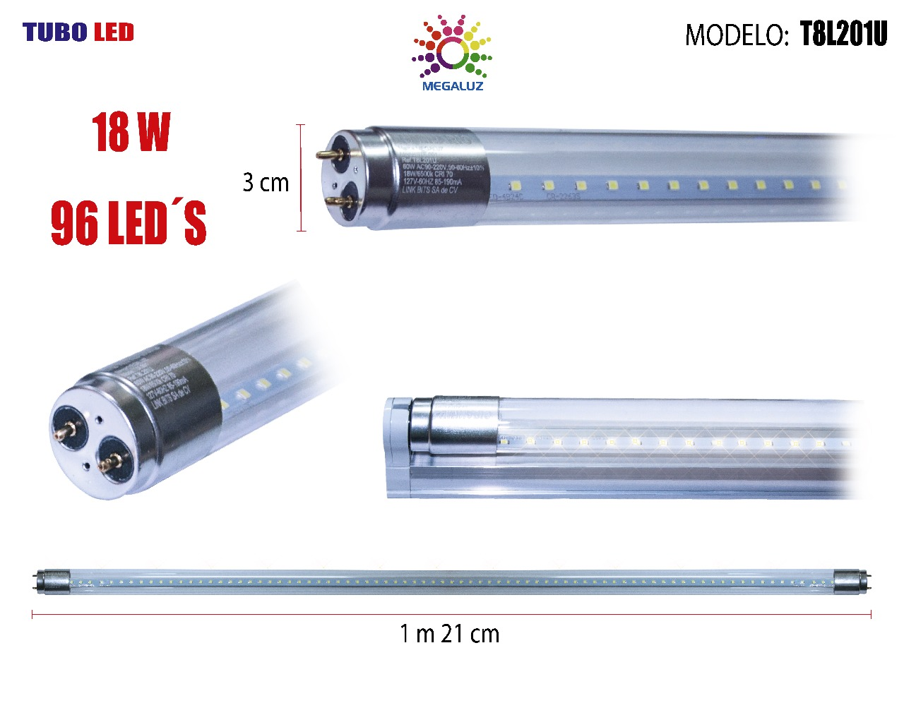 L mpara led integrada 18w distribuidora ferretera mixcoac for Arbol llave regadera